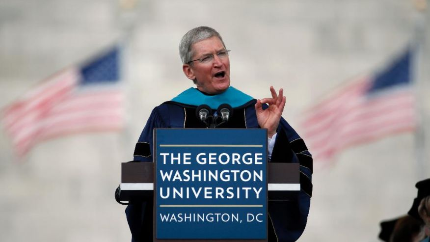 GWU Commencement Apple CEO-tim-cook