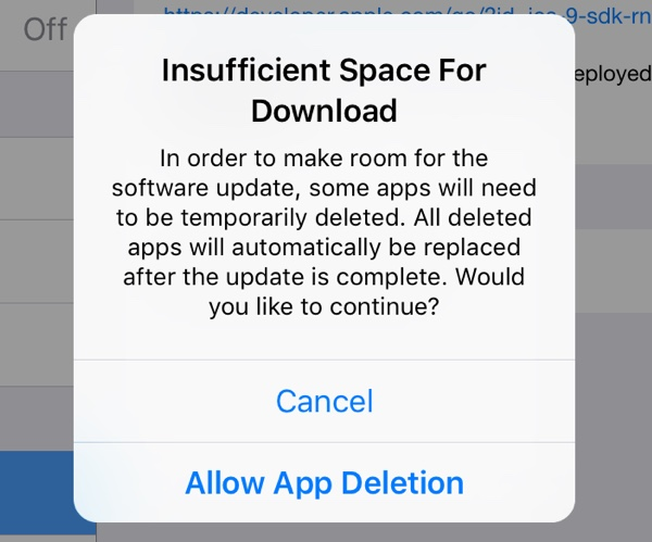 ios9 autodelete programs for good