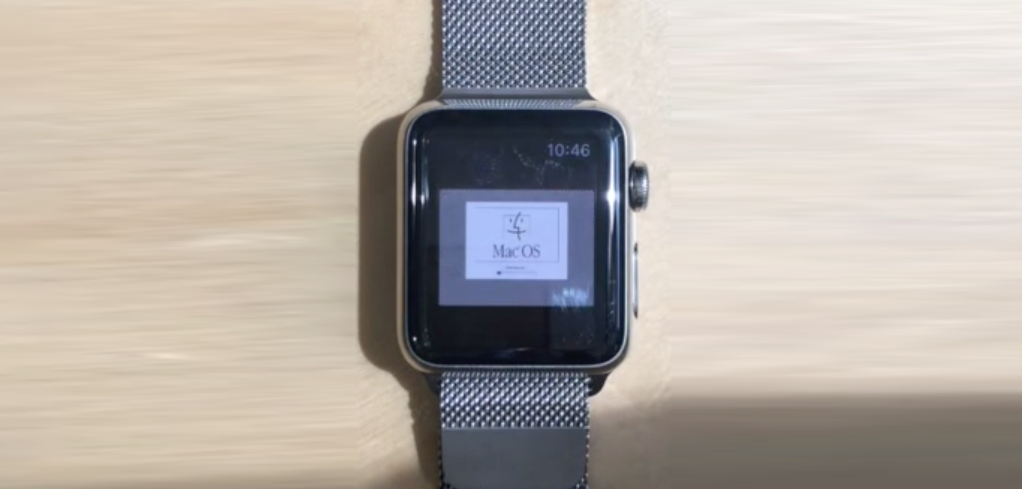 Mac OS running on Apple Watch