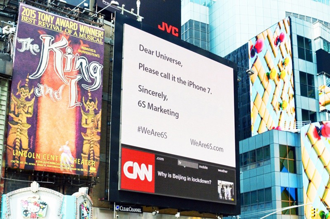 6S Marketing недовольно iPhone 6S