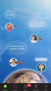 olla - Say hi to the world! (cross-language social network)