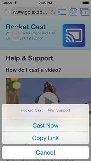 Rocket Video Cast for Chromecast