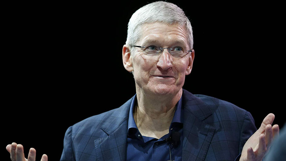 Apple CEO Tim Cook speaks at the WSJD Live conference in Laguna Beach