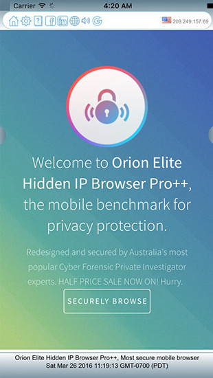 Orion Elite Hidden IP Browser Pro++