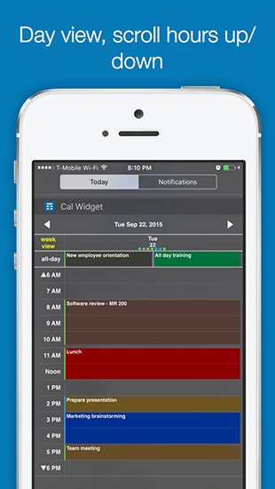 Week Cal Widget for iOS calendar